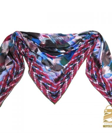روسری حریر دور دستدوز