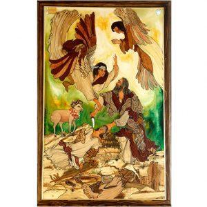 تابلو معرق چوب «ذبح اسماعیل»