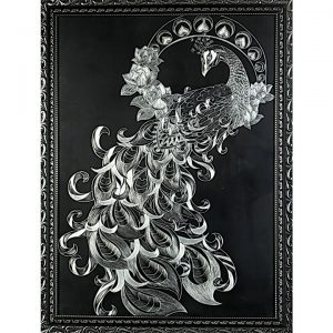 تابلو خراش فلز «طاووس»